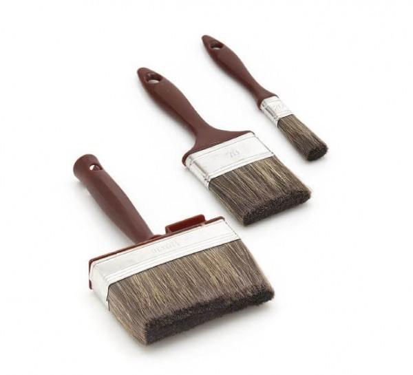 3-Teiliges Profi Holzschutz Pinsel Set
