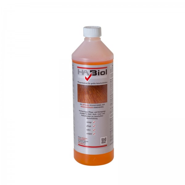 HABiol 1l Parkettpflege Pflegeemulsion für Parkettböden Wischpflege